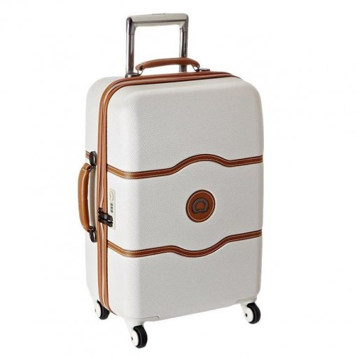Large White Suitcase